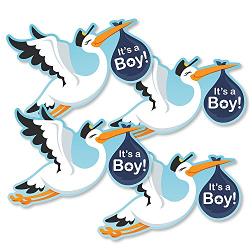 Boy Special Delivery - Decorations DIY Blue It's A Boy Stork Baby Shower Party Essentials - Set of 20