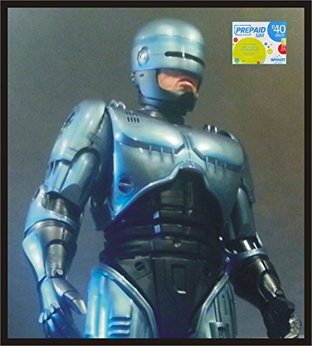 [Life Size Robocop 1987 Edition Superhero Statue Prop, FREE With Purchase of 1 Smart Prepaid Loaded SIM-Card (as per this] (Robocop Halloween Costume)