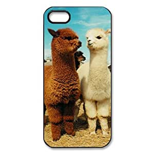 Animals Pattern Cute Alpaca for iPhone 5,5S TPU Case