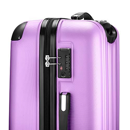 4 Claro Púrpura De maleta Viaje 67cm Tsa Mediano Multidireccional Ruedas maleta candado Pálido Rígida verde Maletas Amasava gq6wvZ