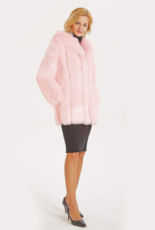 FOLOBE Womens  Inverno Caldo Cappotto di Pelliccia Finta