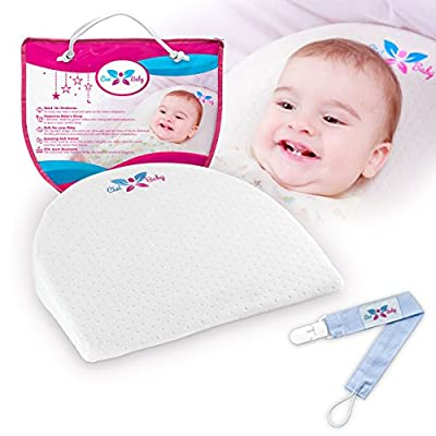 Universal Bassinet Wedge Pillow | Perfect As Baby Sleep Positioner For Infant Reflux And Newborn Nasal Congestion Reducer | Improve Child Sleeping | Pacifier Clip | Ebook by CisiBaby