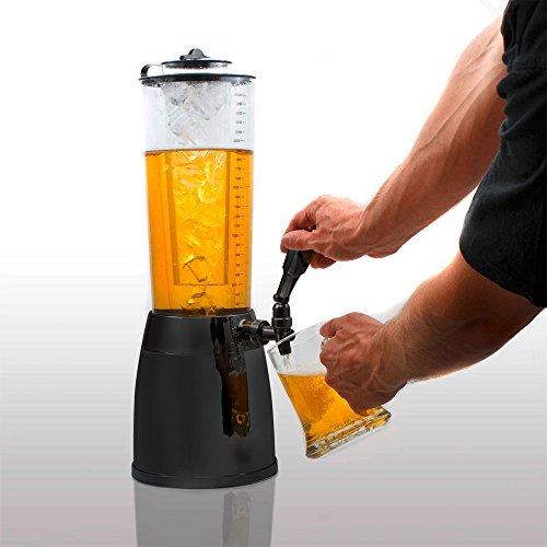 4,0L Biersäule Zapfsäule Kult Biertower Getränkespender mit 1,3L Eiskühlung thumbnail