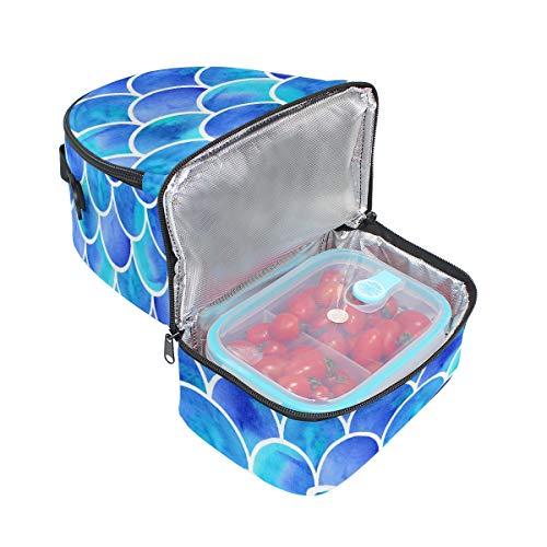 ajustable almuerzo con hombro el térmica de para Alinlo sirena correa diseño para Bolsa qtOZz
