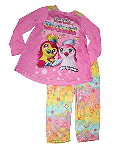 Hatchimals Girls Long Sleeve Pajamas 6-12 (M (7|8))