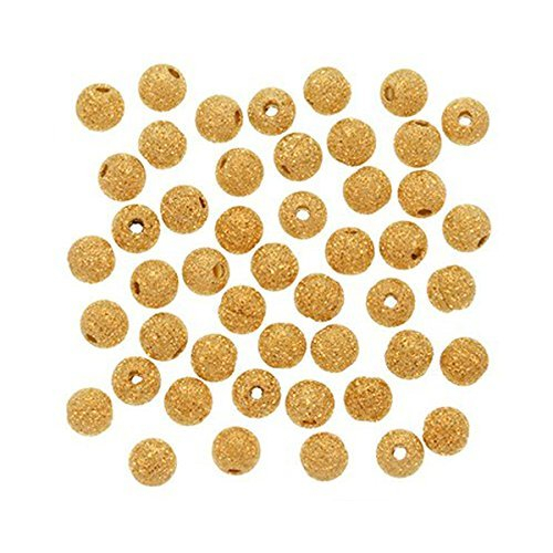 Forever Yung 4mm Gold Plated Stardust Sparkle Round Beads (About 100 Pcs)