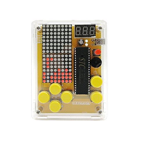 DIY Game Kit Retro Classic Electronic Soldering Kit, Tetris/Snake/Plane/Racing/Slot Machine with Case