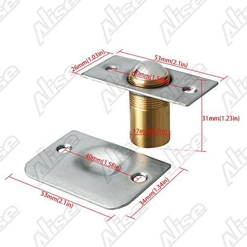Alise PZ002-2P Drive-in Closet Door Ball Catch,with Stainless Steel Strike Plate,2 Pcs by Alise (Image #1)