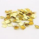 (US) Maizu Fashion Hot Stamp Rivets Leathercrafts DIY Accessory Pyramid Studs Shoes 8mm 100pcs-Gold