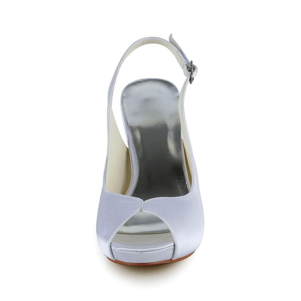 Jia Jia Wedding 37058 Scarpe Sposa Sposa Sposa Scarpe col tacco donna  Bianco f9f412