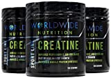 Worldwide Nutrition Pure Creatine Monohydrate Powder Supplement, Unflavored, 100 Servings, 500g