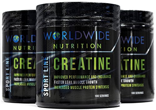 Worldwide Nutrition Pure Creatine Monohydrate Powder Supplement, Unflavored, 100 Servings, 500g by Worldwide Nutrition