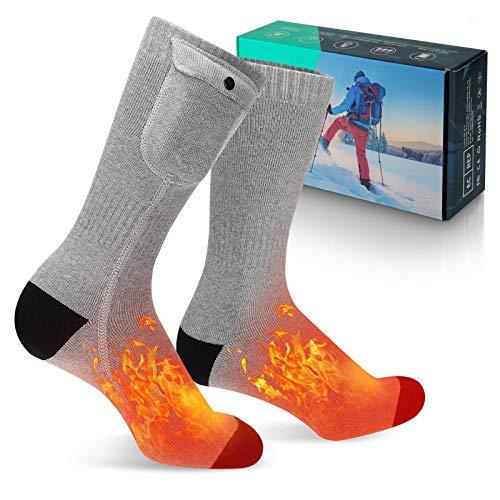 MECO ELEVERDE verwarmde sokken, verwarmde sokken met 3 verstelbare temperatuur voetwarmers, 4000 mAh Oplaadbare Batterij…