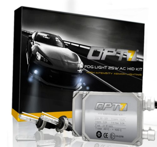 Ac Milan Kit 2009 (OPT7 Bolt AC Fog Light 25w HID Kit w/ Relay Harness & Capacitors - 2 Year Warranty - H11 (3000K, Fog)