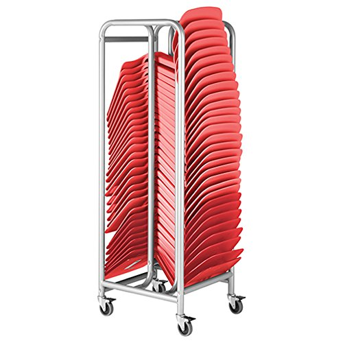 ECR4Kids The Surf Storage Rack with 30 Surfs Package - Mobile Storage Cart Plus 30 Portable Lap Desks/Laptop Stands/Writing Tables, Red by ECR4Kids