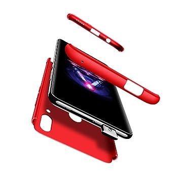 Compatible Huawei P smart Z/Y9 Prime Funda(2019)Carcasa 360° ultra fina Protectora cojín+9D Vidrio Templado Protector,3 in 1 PC Hard Caja Caso Skin ...