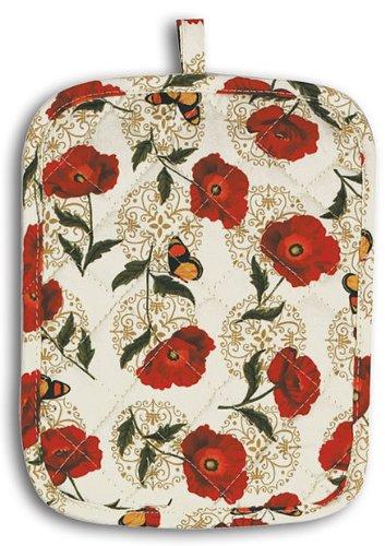 Pot Holder Cafe (Bright Poppies and Butterflies Kitchen Print Pot Holder )