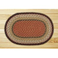 Earth Rugs 02-019 Braided Rug, 20 x 30, Burgundy/Mustard