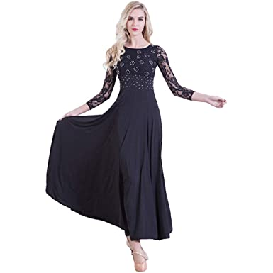 a47b31435ead ZooBoo Prom Ballroom Dance Dress - Dancing Waltz Tango Party Latin Swing  Dancewear Skirt Dress for
