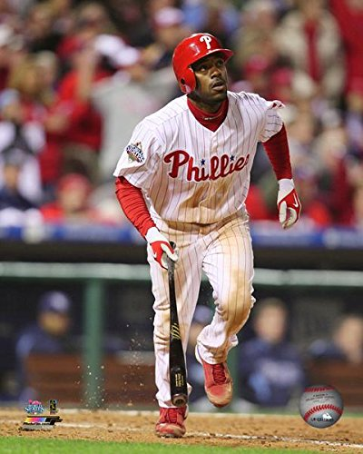 (Jimmy Rollins Philadelphia Phillies 2008 MLB World Series Action Photo (Size: 16
