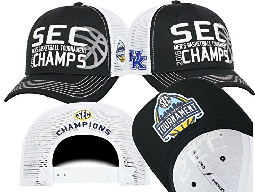 Elite Fan Shop Kentucky Wildcats Sec Champs Hat Basketball 2018   Black
