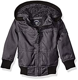 Urban Republic Boys\' Infant Basllistic Bomber Jacket with Sherpa Lining, Charcoal, 18 Months