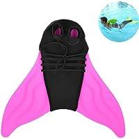 lesgos Monofin Queue de sirène, réglable Swim Pied Flipper pour Enfants Enfants Natation plongée Formation