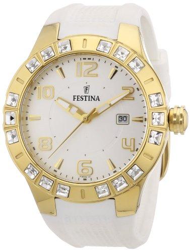28d1fb59dee7 Festina F16582 1 - Reloj analógico de Cuarzo para Mujer con Correa de Caucho