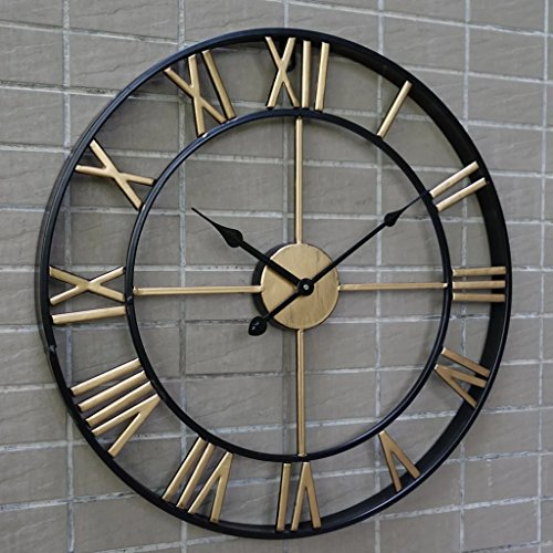 3D retro rustic decorative luxury art vintage large wall clock