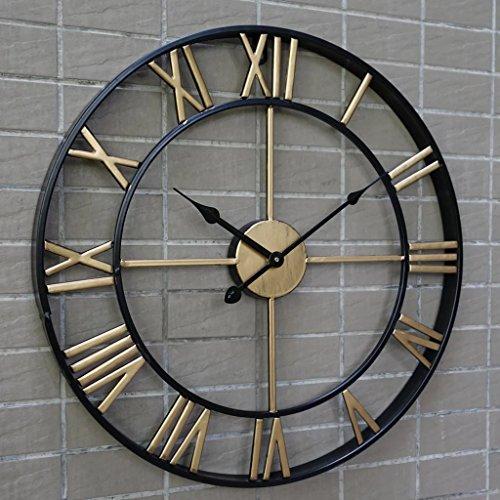 3D retro rustic decorative luxury art vintage large wall clock