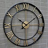 Handmade Oversized 3D retro rustic decorative luxury art vintage large wall clock on the wall for gift Wall clock/C