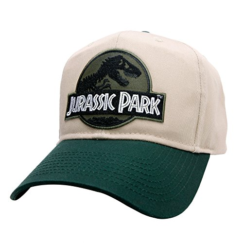 Jurassic Park Movie Forest Green Sci-Fi Patch Green Khaki Cap Hat by  Project T e2608680bf68