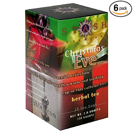 Amazon.com : Stash Premium Christmas Eve Herbal Tea, Tea Bags, 18 ...