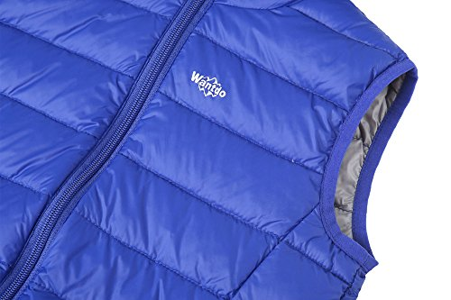 Packable Sapphire Down and Girl's Vest Puffer Boy's Hooded Wantdo Blue Sleeveless Jacket wSvZaqxIZ