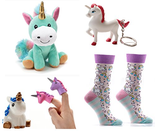 Mixed Unicorn Lovers Bundle Gift Set including Yo Sox Unicorn Sox, 8