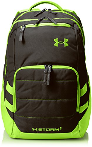 Under Armour Storm Camden II Backpack, Black/Hyper Green, One Size