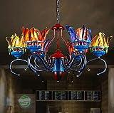 DGF Smallpox Chandelier- Creative Living Room Restaurant Bar Coloring Feather Light