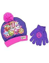 Beanie Cap - Shopkins - Purple w/Gloves Set Youth/Kids size Hat