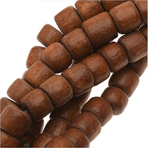 Pukalet Wood Beads, Dyed Round 4x5mm, 1 Strand, Bayong Brown (Pukalet Natural)