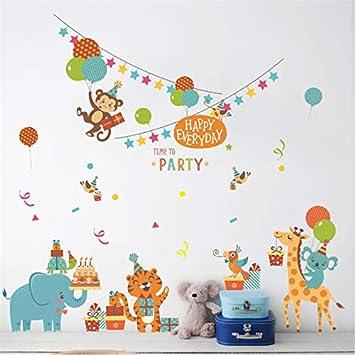 Selva Animales Mono Tigre Cartón Fiesta De Cumpleaños ...