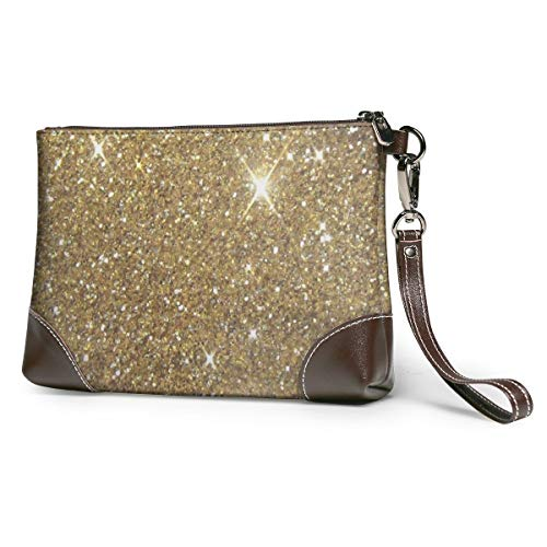 Gold Glitter Leather...