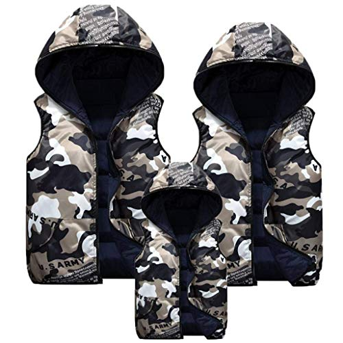Down Coat Marineblau Vest Fashion Vest Camouflage Hooded Overcoat Coat Hooded Men's Outerwear Paternity Jacket xgwaqRgA
