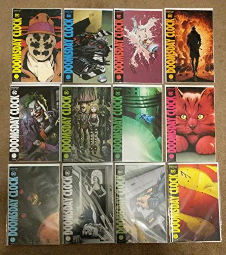 Doomsday Clock #1 - #12 Complete Comic Book Miniseries Set - Watchmen Sequel - Doomsday Clock Issues 1 2 3 4 5 6 7 8 9 10 11 12 - Geoff Johns -