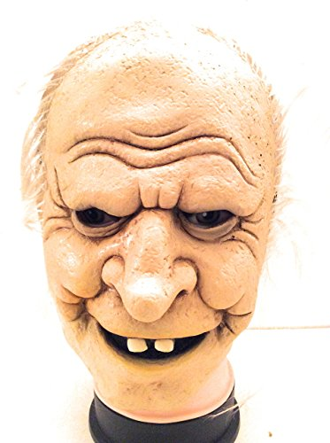 Mad Scientist Mask (Halloween Adult Mask Gramps Grandpa Grandfather Old Man Senior Mad Scientist)