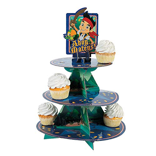 Fun Express - Jake Neverland Pirates Treat Stand for Birthday - Party Supplies - Licensed Tableware - Misc Licensed Tableware - Birthday - 1 -