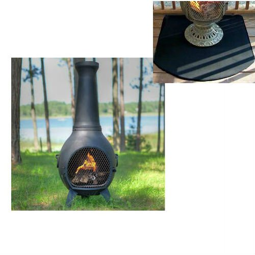 Blue rooster prairie style wood burning outdoor metal for Prairie style fireplace