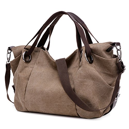 Lightweight Hobo Bag (LWK Women Handbags Hobo Canvas Large Capacity Shoulder Tote Messenger bags Fashion Handbags for Women 319)
