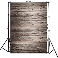 FiVan 5x7ft brown Wood Plank Photography Background table cloth wall decors party props FF-017
