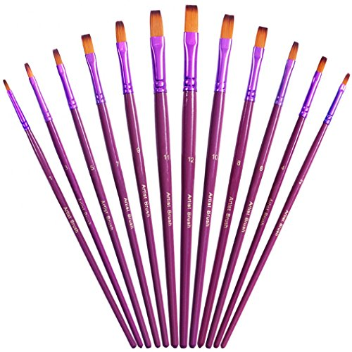 youshares-12pcs-art-paint-brush-set-for-watercolor-oil-acrylic-painting-craft-nail-face-paint