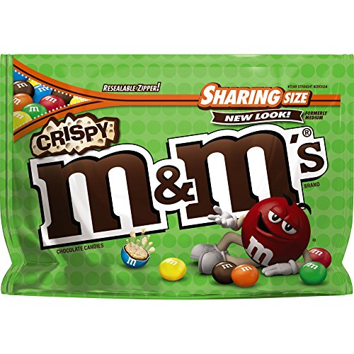 M&M'S Crispy Chocolate Candy Sharing Size 8-Ounce Bag (Pack of 8)